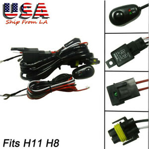 Led On Off Switch Relay Harness Wire Kit For Fog Lights Hid Worklamp Universal