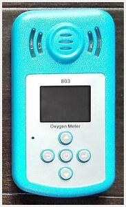 Oxygen O2 Meter Concentration Detector Lcd Portable Set Alarms Kxl 803 803