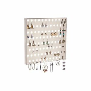 Earring Holder Wall Mount Jewelry Organizer Hanging Closet Storage Rack Sariea