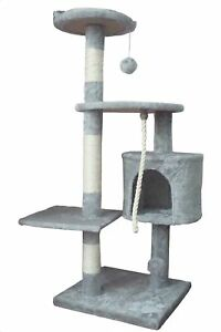 Ouzen Gray Cat Climbing Tree Tower Scratcher Furniture With Scratching Post And