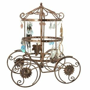 Cinderella Rotating Carriage Jewelry Storage Earring Organizer Bracelet