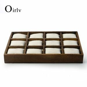 Oirlv Stackable Earrings Ring Watch Bracelet Bangle Holder Jewelry Display Trays