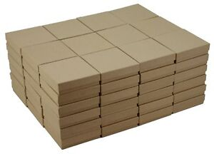 Recycled Kraft Cotton Filled Jewelry Box 33 case Of 100 3 5 X 3 5 X 1