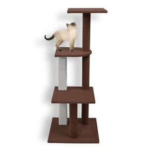 Firstwell Cat Tree Tower Kitty House Furniture Kitten Climb Stand With Natural