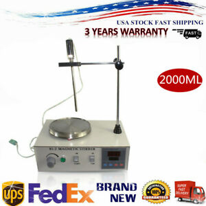 85 2 Stirrer Magnetic With Heating Plate Digital Hotplate Mixer Stir Bar 2000ml