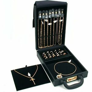 Ring Necklace Watch Jewelry Travel Case Storage Box New
