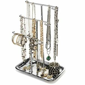 H Potter Jewelry Organizer Necklace Holder Tree Tower 3 Tier Display Stand