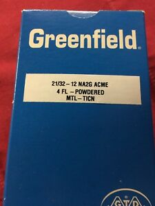 6 new 21 32 12 na2g Acme Thread Tap 4 Flute Ticn Greenfield Usa