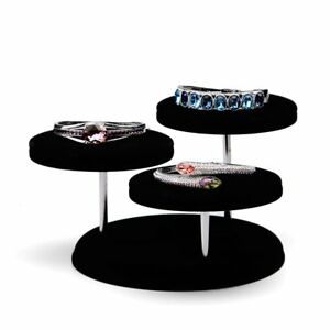 Oirlv Velvet Jewelry Towers Display Stand Organizer Rack For