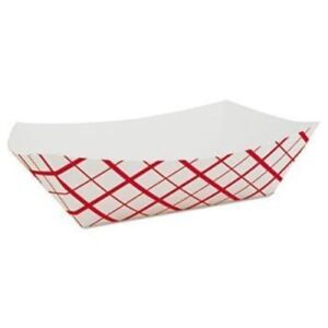 Paper Food Tray French Fry Red Plaid