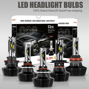 Cree Led Headlight Bulbs Kits 9005 9006 H11 H4 H13 High Low Beam 1400w Ballast