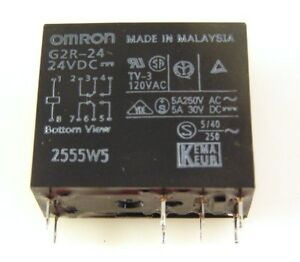 Omron Electronics G2r 24 dc24 General Purpose Relays Power Pcb Relay 5 Pieces