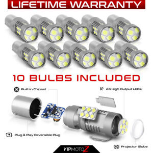 vipmotoz Ba15s P21w 7506 1156 Rv Camper Freightliner Cascadia Led Light Bulbs