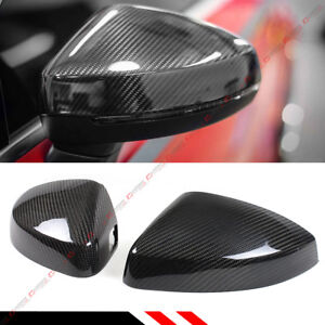 Carbon Fiber Replacement Mirror Covers For 14 19 Audi A3 S3 Rs3 With Lane Assist
