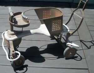 Carriage Buggy Stroller Antique Baby Stroller Wood Metal Vintage Baby Buggy