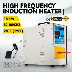 15kw 30 100 Khz High Frequency Induction Heater Furnace Free Shipping