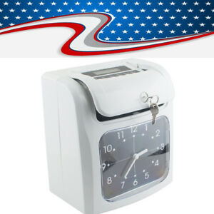 Usps Electronic Employee Analogue Time Recorder Clock W card Monthly semimonthly
