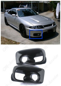 Carbon Oe Front Bumper Border Style Air Duct For 95 98 Nissan Skyline R33 Gtr