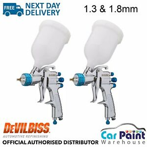 2 X Devilbiss Slg 620 Compliant Spray Gun 1 3 1 8mm Paint Primer Gun Gravity
