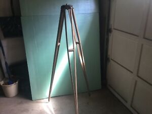 Vintage David White realist Wooden Tripod Only Surveyer Camera Transit