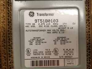 Ge Transformer 9t51b0103 New In Package