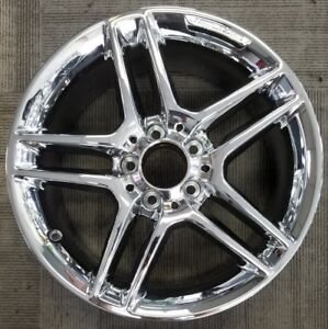Amg Mercedes C250 C300 C350 Chrome Alloy Wheel Rim 17x7 5 2012 2013 Front Wheel