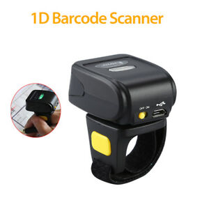 Portable Bluetooth Ring Finger Barcode Scanner Reader For Android Ios Windows