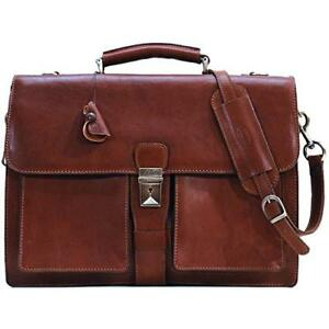 Floto Mens Novella Briefcase In Brown