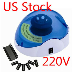 Us Laboratory Mini New Medical Centrifuge Machine 0 2 0 5 1 5 2 0ml 5000rpm 220v
