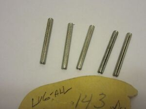 Lot Of 5 Lug all Roll Pin Part No 143 New Old Stock