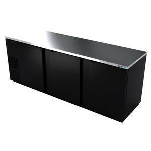 Asber Abbc 94 95 1 2 Triple Section Back Bar Cooler W Solid Doors
