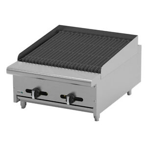 Asber Aecrb 24 24 Countertop Gas Char Rock Broiler