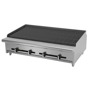 Asber Aecrb 48 48 Countertop Gas Char Rock Broiler