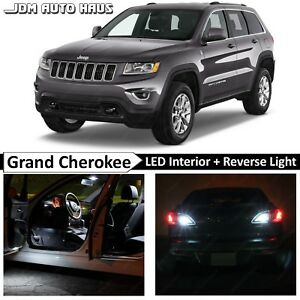 Jeep Grand Cherokee Wk2 2011 2015 White Interior Reverse Led Lights Bulb Package