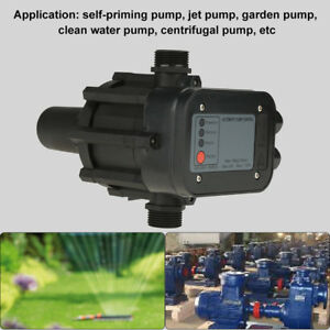 220v Ip65 Self priming Automatic Pressure Controller Water Pump Switch G1 Black