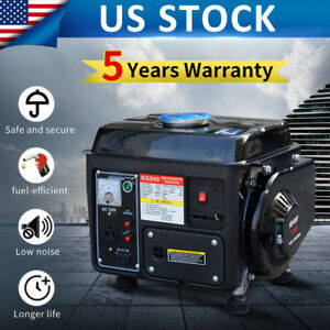 Portable 2 stroke 1200w Gasoline Gas Generator Power Rv Camping Air cooled