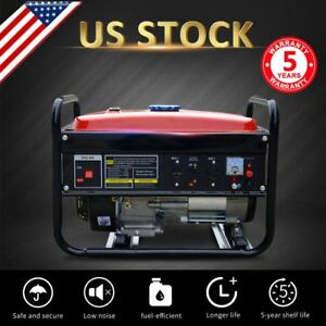 Portable Gas Generator 4000watt Camping Standby 7hp Rv Home Back Up Emergency P