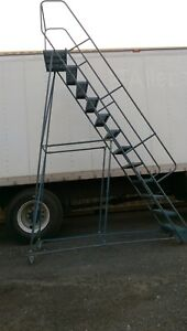 12 Step Steel Rolling Warehouse Container Truck Safety Ladder Us Made Gillis Vgc