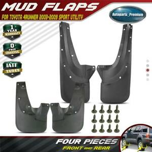 4pcs Splash Guards Mud Flaps For Toyota 4runner 2003 2009 Suv Fenders Full Set