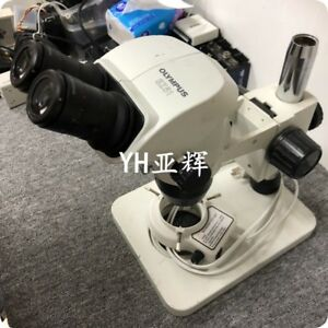 Olympus Sz51 Stereo Microscope whsz20x h 12 5 0 5x Objective Lens stand light
