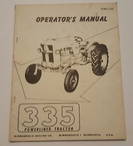 335 Operators Manual minneapolis Moline owners Powerlined Tractor_oms 221