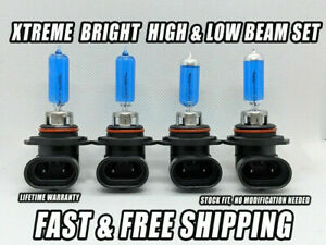 Xtreme White Headlight Bulbs For Chevy Silverado 1500 1999 2006 High Low Set 4