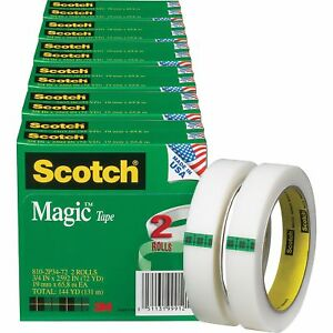 Scotch Magic Tape 3 Core 3 4 x2592 12 bd Transparent 8102p3472bd