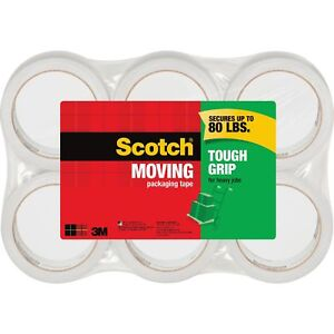 Scotch Packaging Tape 1 88 X 43 7 Yards 6 pk Clear 3500406