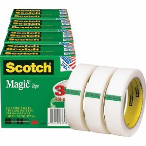 Scotch Magic Tape 3 Core 1 x2592 12 bd Transparent 810723pkbd