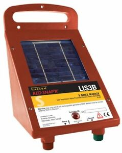 new Solar Power Electric Fence Controller Lis3b Red Snap r Zareba Systems