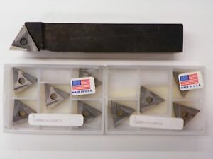 Teledyne Tar 855 Lathe Tool Holder With Tnmm 542er C5 Carbide Inserts B808