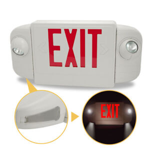 Etoplighting Emergency Lights Exit Sign Red Letters W Backup Battery Etl Listed