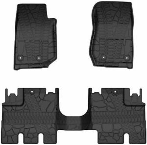 3d Slush Floor Mats Liner For 2014 2018 Jeep Wrangler Jk Jku 4 Door Unlimited