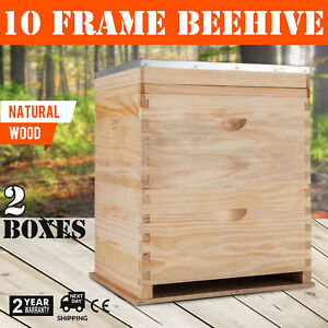 Beehive 20 Frame Complete Box Kit 10 Deep 10 Medium Langstroth Beekeeping